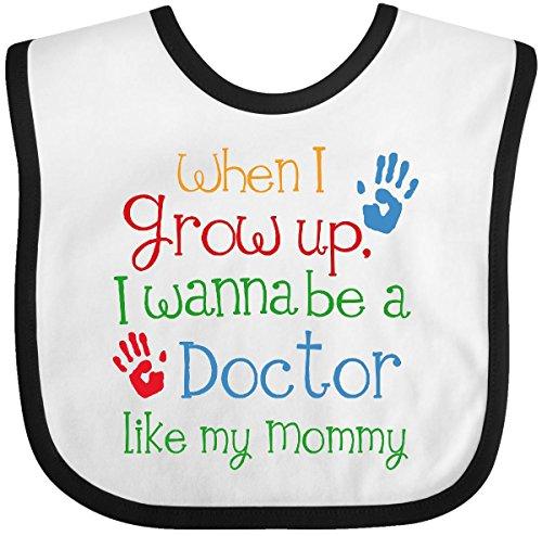 Inktastic - Doctor Like Mommy Baby Bib White/Black 1d396