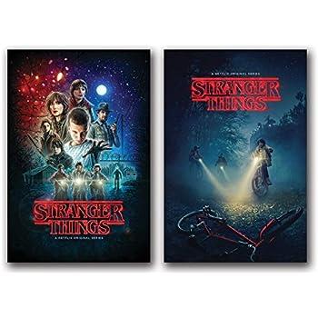 Stranger Things Posters Set of 2 - 24in x 36in each TV Show - Fan Memorabilia