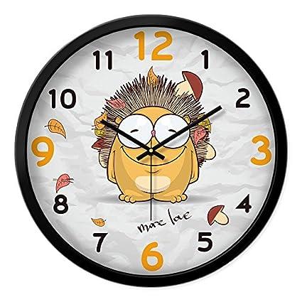 Cartoon creativa reloj de pared dormitorio niños relojes personalizados mute salón estudio reloj de cuarzo de