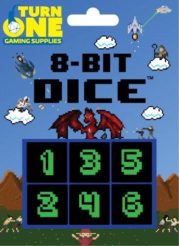 8-Bit Dice Monochrome Turn One Gaming Supplies
