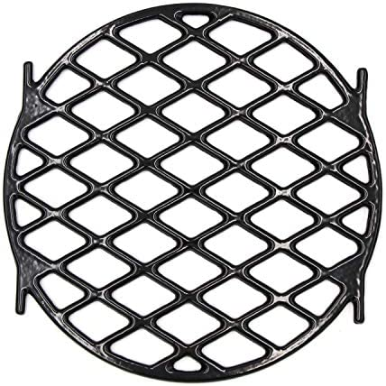 Hongso 8834 Gourmet BBQ System Sear Grate for 22.5 inch Weber Charcoal Grills, 12 Inches Diameter Black Porcelain Enamel Cast Iron Round Cooking Grill Grate Replacement Barbecue Accessories, PCH834