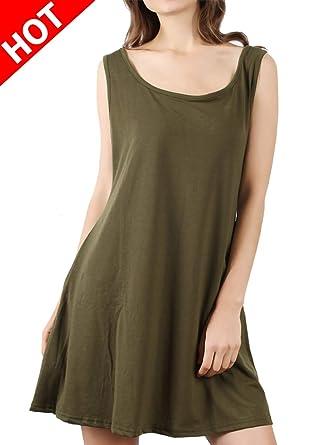 2a33cb431134 Amazon.com  DD DEMOISELLE Women s Sleeveless Dress