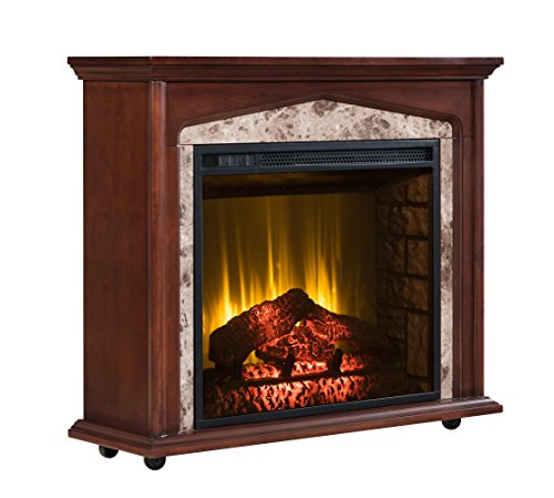 faux marble electric fireplace - 3