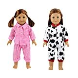 Barwa 2 Sets Sleepwear Pajamas Clothes Outfit Fits American Girl Doll, My Life