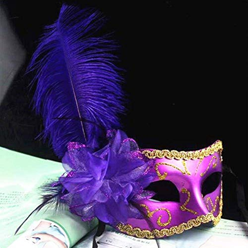 Venice Nightclub Feather Flower Wedding Carnival Party Mask Halloween Masquerade Party Female Cosplay Female Mask