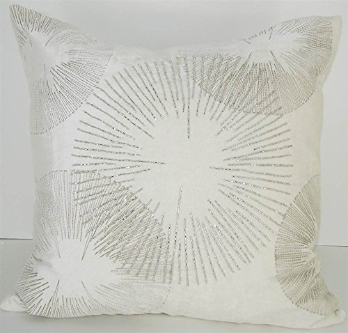 Design Accents Velvet Pillow - Starburst Ivory - 20 x 20 in. (Ivory Starburst)