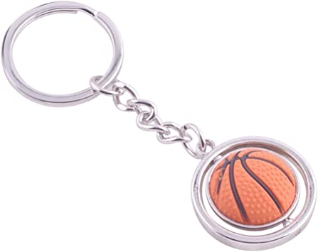 TOYMYTOY Baloncesto Metal Key Ring 3D Deportes Llavero ...