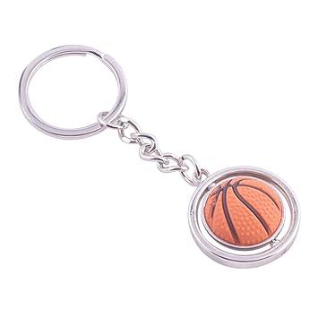 TOYMYTOY Baloncesto Metal Key Ring 3D Deportes Llavero Rotating ...