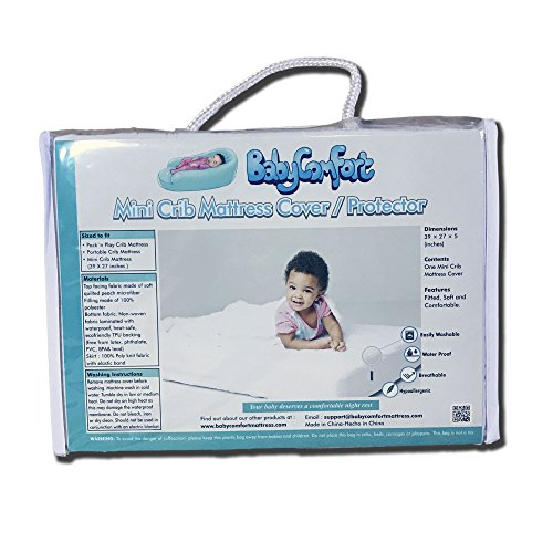Crib Mattress Cover/Protector (Mini Crib Size)