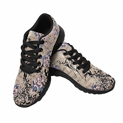Interestprint Mujeres Jogging Running Sneaker Ligero Go Easy Walking Comfort Deportes Zapatillas De Running Multi 10