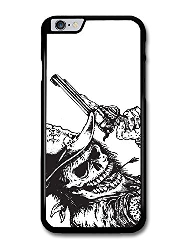Cool Badass Skull with Gun Cowboy Rock and Roll Metal case for iPhone 6 Plus 6S Plus