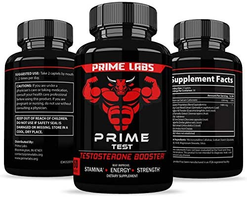 Prime Labs - Men's Test Booster - Natural Stamina, Endurance and Strength Booster - 60 Caplets 6