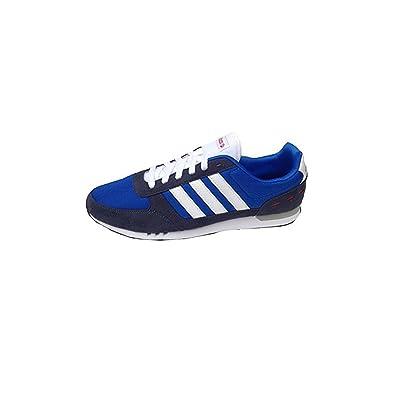 adidas Scarpe Uomo Sneakers NEO City in Tela blu F37931