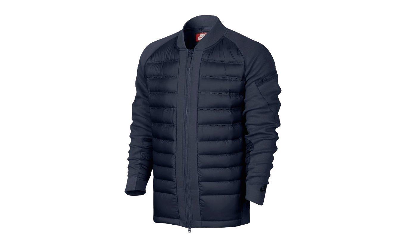 618ad9c47 Nike Sportswear Tech Fleece AeroLoft Men's Down Bomber-SZ LG Obsidian  806837 451