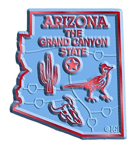Arizona the Grand Canyon State Map Fridge Magnet (State Fridge Magnets)