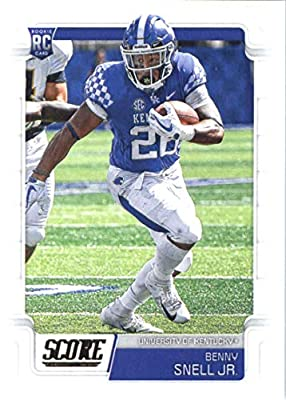 2019 Score #390 Benny Snell Jr. NM-MT+ Kentucky Wildcats Officially Licensed NFL Football Trading Card