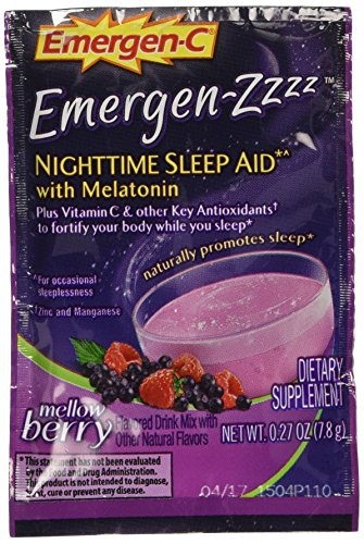 Alacer Emergen Nighttime Sleep Aid, Mellow Berry, 24 Count