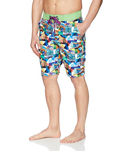 Robert Graham Men's Mambo Woven Swim Board Short, Multi, 32 by Robert Graham