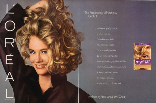cybill-shepherd-for-preference-by-loreal-ad-1989