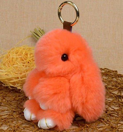 1 Pc Mini Pocket Orange Rabbit Fur Keychain Keyring Keyfob Fluffy Toy Doll Bunny Pendant Key Ring Tags Finder Unequaled Popular Cute Wristlet Utility Keyrings Tool Teen Women Girls Gift, - Finder Shop Orange