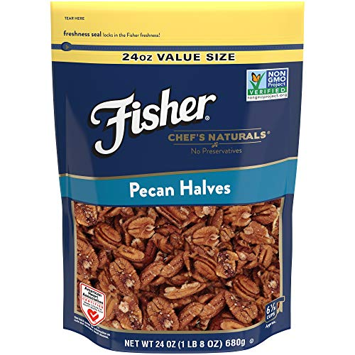 FISHER Chef's Naturals Pecan Halves, No Preservatives, Non-GMO, 24 -