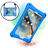 Cooper Bounce Strap Shoulder Strap Rugged Case Compatible with Apple iPad Mini 4 3 2 1   Multi-Functional Shock Proof Heavy Duty Cover with Stand, Shoulder and Hand Strap   Kids Adults Boys (Blue)