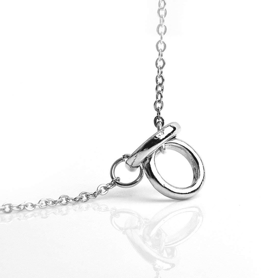 Swiftswan Women Fashinable Double Circle Pendent Stylish Necklace Elegant Shiny Necklace