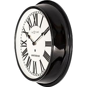 Nextime Amsterdam - Reloj de Pared (Redondo, 40,4 cm), diseño Retro 4