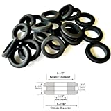 20 Pcs Heavy Duty Rubber Grommets 1-1/4'' Inside Diameter- Fits 1-1/2'' Panel Hole