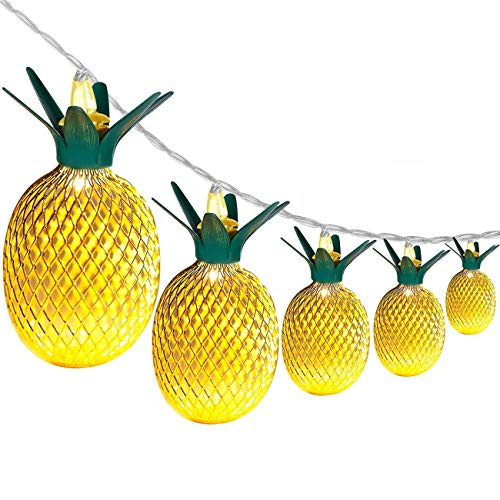 Wishwill Pineapple Decor Light, 5ft 10 LED Battery Powered Fairy String Light for Christmas Home Wedding Party Bedroom Birthday Decoration (Warm White) ()