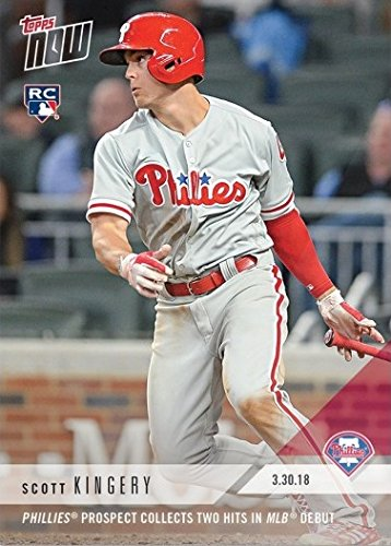 (2018 Topps Now Baseball #12 Scott Kingery Rookie Card - His 1st Official Rookie Card - Only 2,786 made!)