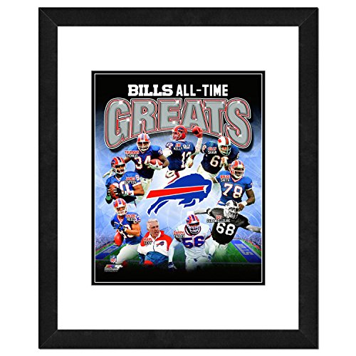 NFL Buffalo Bills Men's All Time Greats Framed Photo, One Size, Multicolor