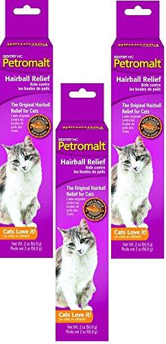 (3 Pack) Sentry Petromalt Fish Flavor Hairball Remedy 2oz Each by Sentry