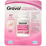 Gravol 50 milligram tablets, 80 Count
