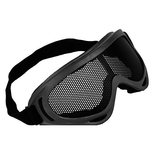 INFANTRY-Hunting-Airsoft-Glasses-Goggle-Tactical-Eyes-Protection-Metal-Mesh-Pinhole