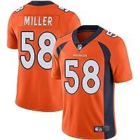 Thole Unisex NFL Camiseta Fútbol Denver Broncos 58# Miller Equipo Fútbol Training Jersey Uniformes