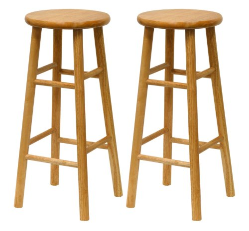 Amazon Winsome Wood S2 Wood Inch Bar Stools Natural Finish Kitchen Dining