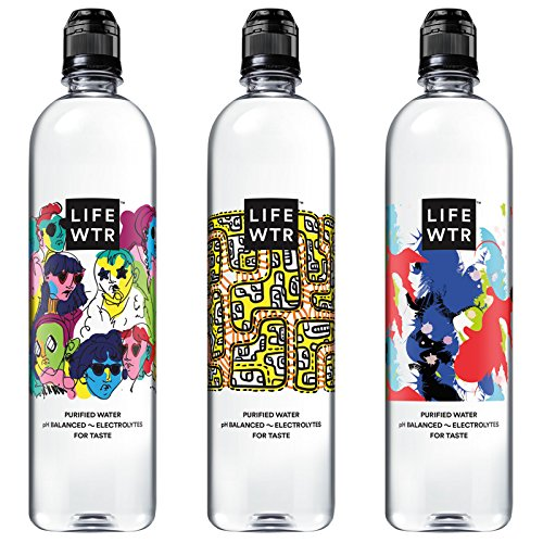 : LIFEWTR, Premium Purified Water, pH Balanced with Electrolytes For Taste, 700 mL flip cap bottles (Pack of 12) (Packaging May Vary)