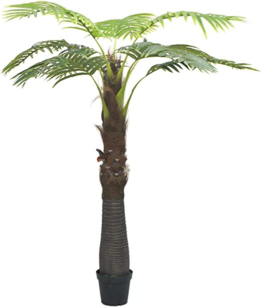 Festnight Artificial Palm Tree With Pot For Outdoor Garden Green 253 Cm 8ft Amazon Co Uk Kitchen Home