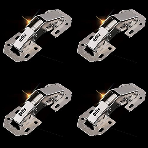 4 Pieces Kitchen Cabinet Door Hinges Concealed Cupboard Door Hinges, Easy To Install, Not Slow Close