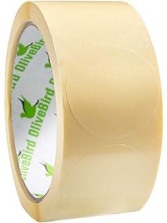 240x HERMA Verschlußetiketten transparent rund Polyesterfolie Klebesiegel
