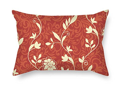 (MaSoyy 20 X 30 Inches / 50 by 75 cm Flower Pillowcover Twice Sides Ornament and Gift to Drawing Room Sofa Dinning Room Couch Gf Bench)
