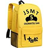 Gumstyle Osomatsu kun Backpack Anime School Bag Classic Schoolbag Yellow