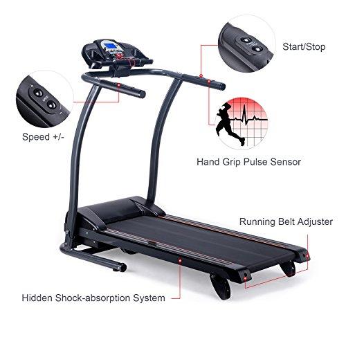 Treadmill Belt Moving Slow: Pinty Folding Treadmill Incline Motorized Running Machine