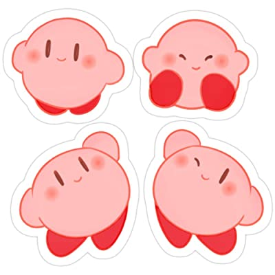 B. Strange Mall Kirby Stickers (3 Pcs/Pack): Kitchen & Dining