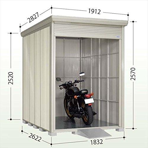 タクボ物置 バイクシャッターマン(床付き) 多雪型 標準型 BS-S1826 『自転車バイクの盗難対策に バイクガレージ』 B0199KOY8K