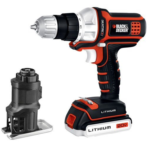 Black & Decker BDCDMT120JS 20-Volt MAX Lithium-Ion Matrix Drill and Jig Saw Combo Kit by BLACK+DECKER