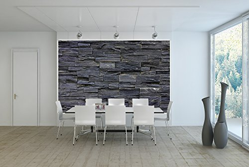 Picture wallpaper 3d effect black stonewall mural for 3d wallpaper for home uae