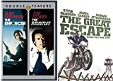 The Great Escape & The Enforcer + The Gauntlet DVD Crime Action Pack 3 Movie Set Clint Eastwood / Steve McQueen