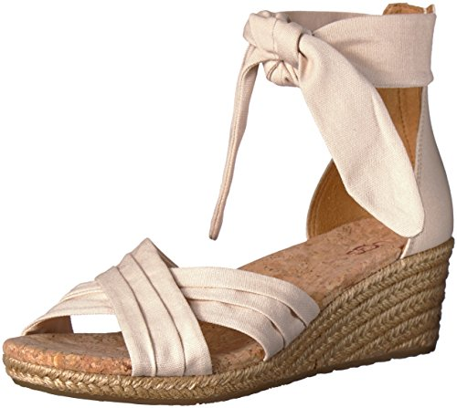 UGG Women's Traci Wedge Sandal, Cream, 8 M US by UGG
